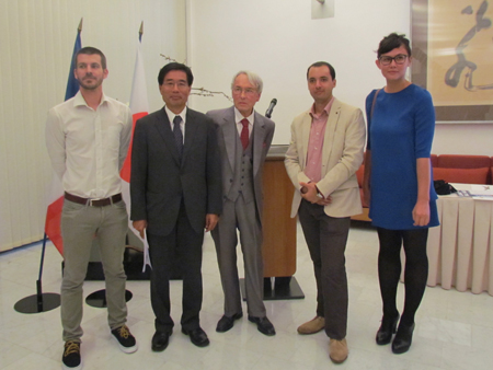 remise du Prix Robert Guillain Reporter au Japon, le 30 septembre 2014