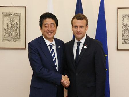 日仏首脳会談(平成29年5月26日)