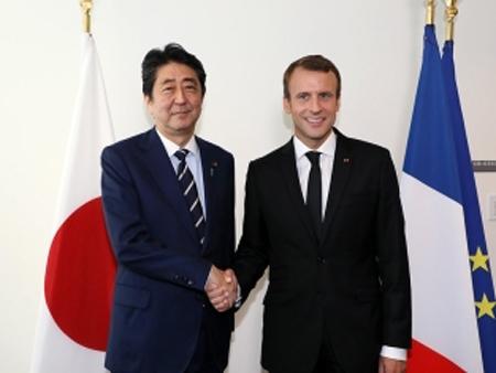 ニューヨークでの日仏首脳会談(平成29年9月20日)